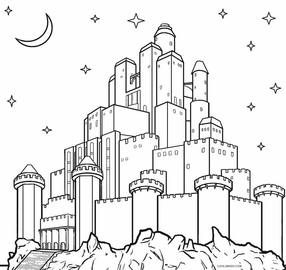 30+ Awesome Picture of Castle Coloring Pages
