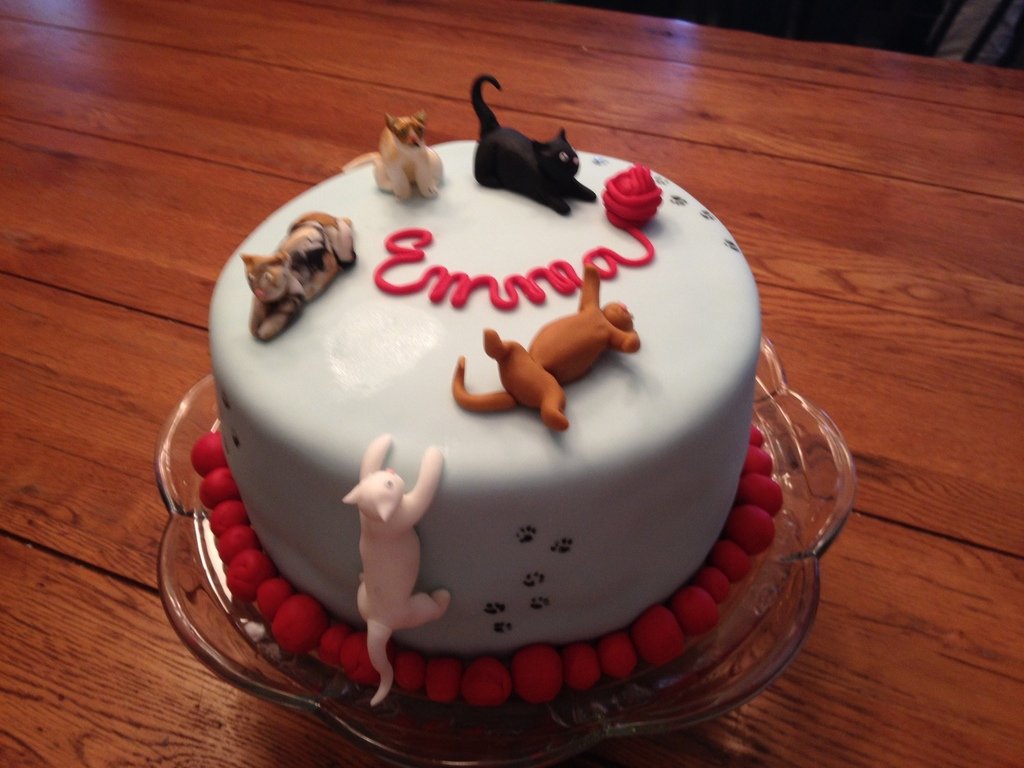 Cat Cakes For Birthdays Cat Themed Birthday Cake Grumpy Cat Is There Too Cakecentral