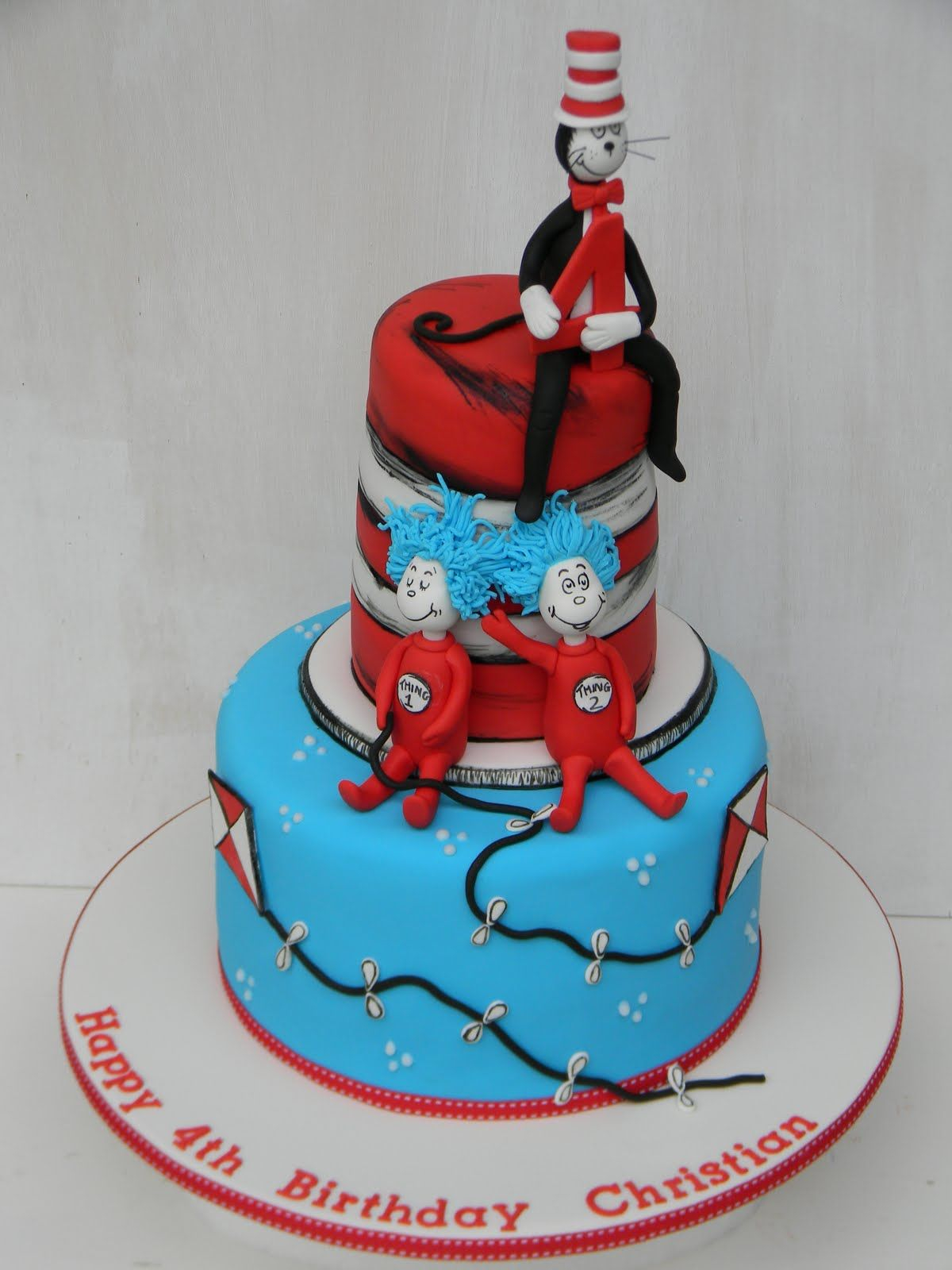 Cat In The Hat Birthday Cake Cat And The Hat First Birthday Cake Just Call Me Martha Cat In