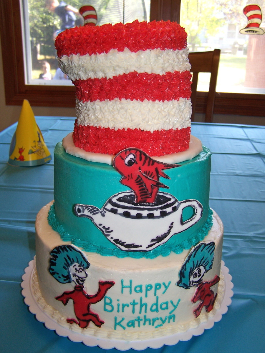 Cat In The Hat Birthday Cake Cat In The Hat Birthday Cake Cakecentral