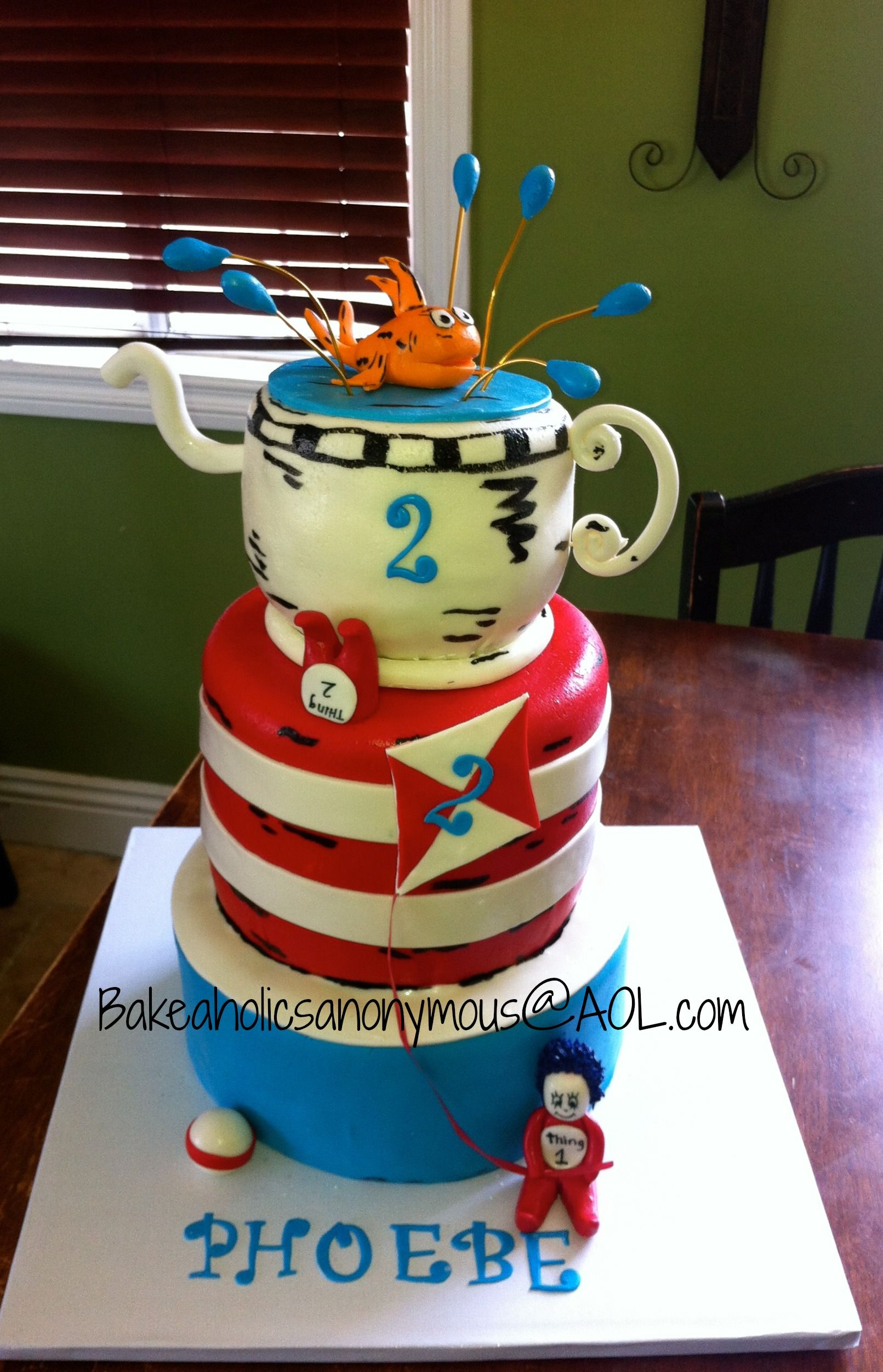 Cat In The Hat Birthday Cake Cat In The Hat Birthday Cake Cat In The Hat Cake With All Handmade