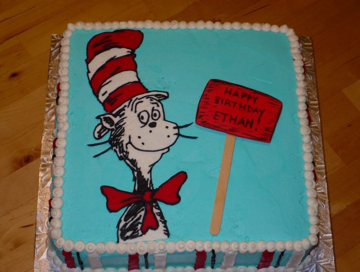 Cat In The Hat Birthday Cake Cat In The Hat Birthday Cake Classic Style