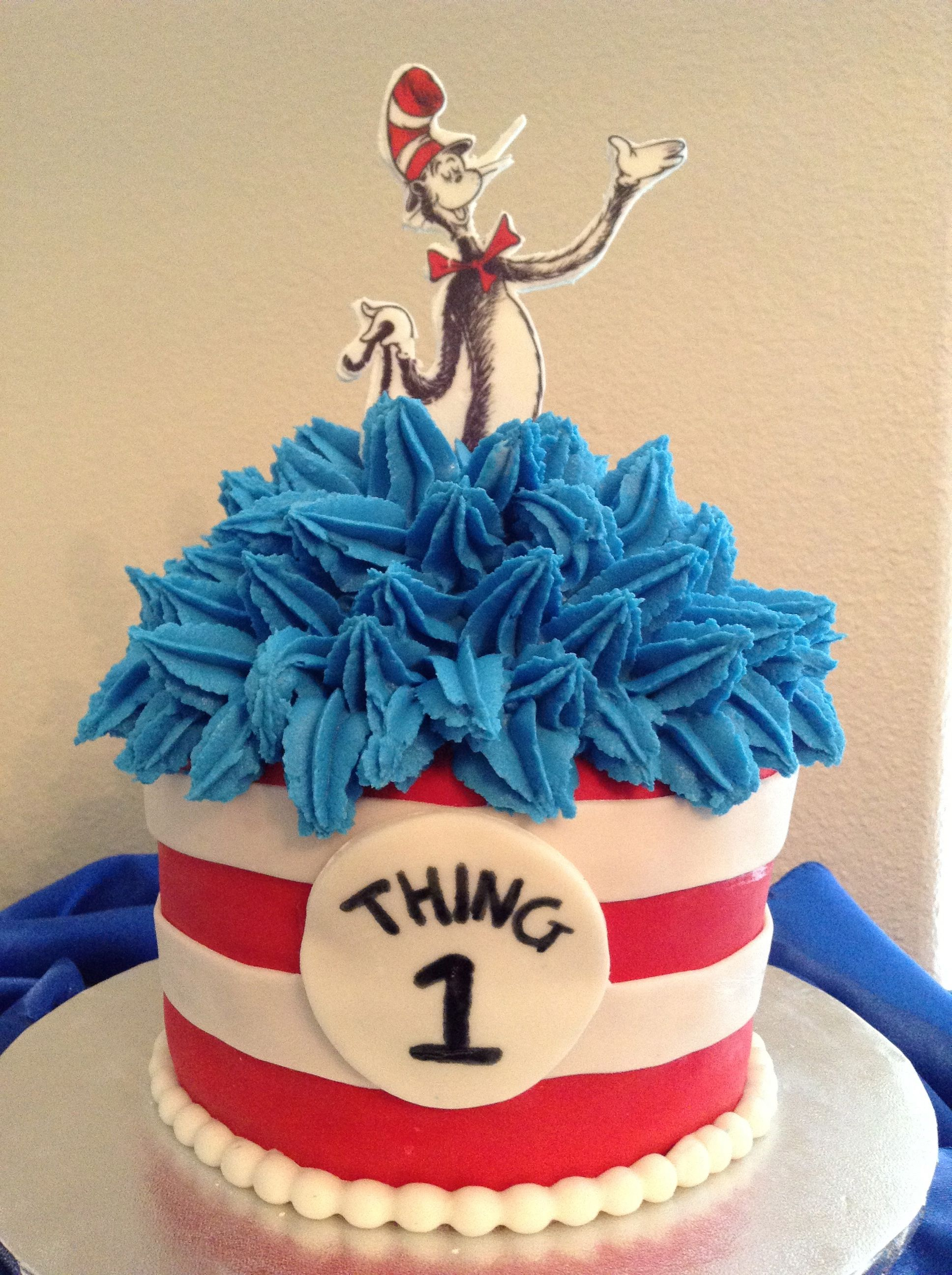 1936 X 2592 In 25 Elegant Picture Of Cat The Hat Birthday Cake