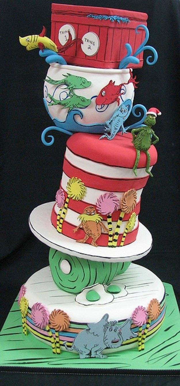 Cat In The Hat Birthday Cake Cat In The Hat Unique Birthday Cake Counting Candles