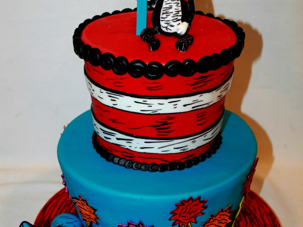 768 In 25 Elegant Picture Of Cat The Hat Birthday Cake