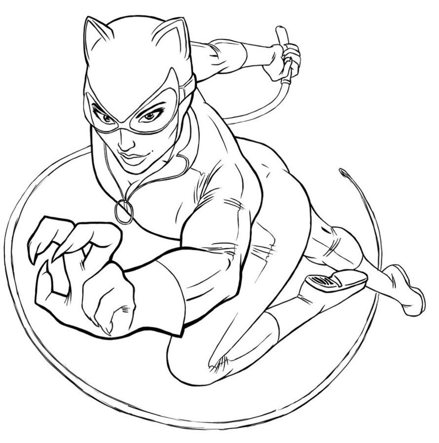 Catwoman Coloring Pages Coloring Pages Coloring Pages Catwoman Printable For Kids