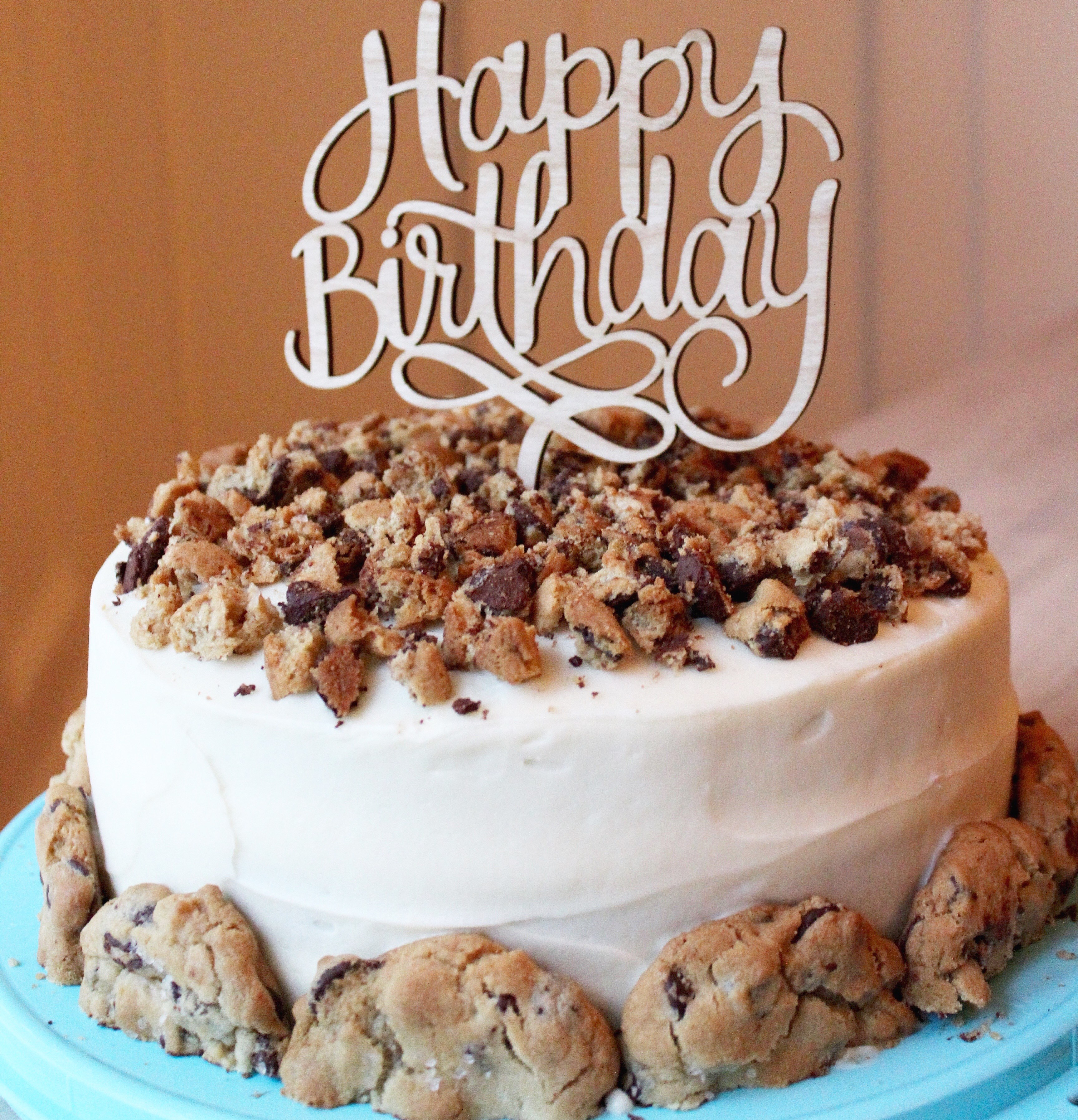 3456 X 3591 In 30 Great Photo Of Chocolate Chip Cookie Birthday Cake