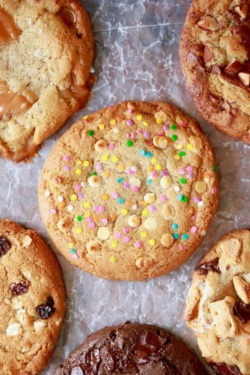 Chocolate Chip Cookie Birthday Cake Crazy Cookie Dough One Easy Cookie Recipe With Endless Flavor