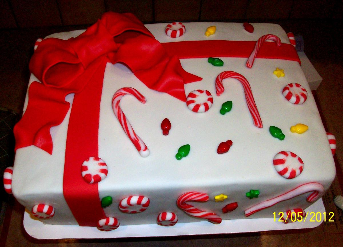 864 In 35 Pretty Image Of Christmas Birthday Cake