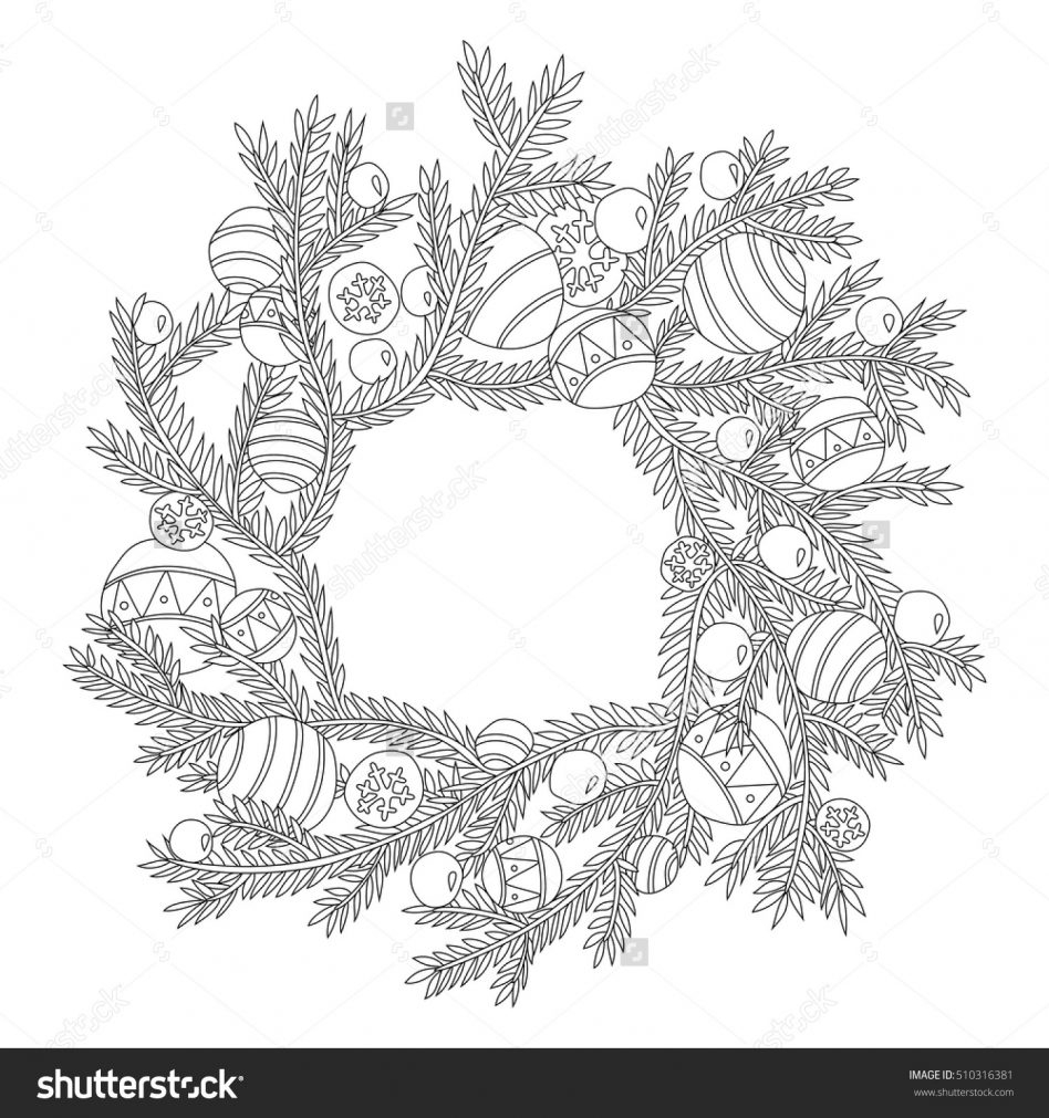 Christmas Wreath Coloring Pages 36 Christmas Wreaths Coloring Pages Coloring Christmas Wreath New