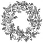 Christmas Wreath Coloring Pages Christmas Wreath Christmas Adult Coloring Pages