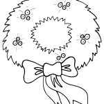 Christmas Wreath Coloring Pages Christmas Wreath Coloring Page Create A Printout Or Activity Cool