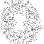 Christmas Wreath Coloring Pages Christmas Wreath Coloring Page Free Printable Coloring Pages
