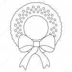Christmas Wreath Coloring Pages Christmas Wreath Coloring Page Stock Photo Smk0473 129574520 For