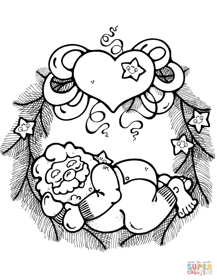 Christmas Wreath Coloring Pages Christmas Wreath Coloring Pages Free Coloring Pages