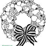 Christmas Wreath Coloring Pages Christmas Wreath Coloring Pages Free New Bitslice