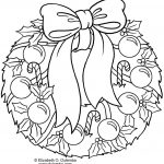 Christmas Wreath Coloring Pages Christmas Wreath Coloring Pages Halloween Holidays Wizard