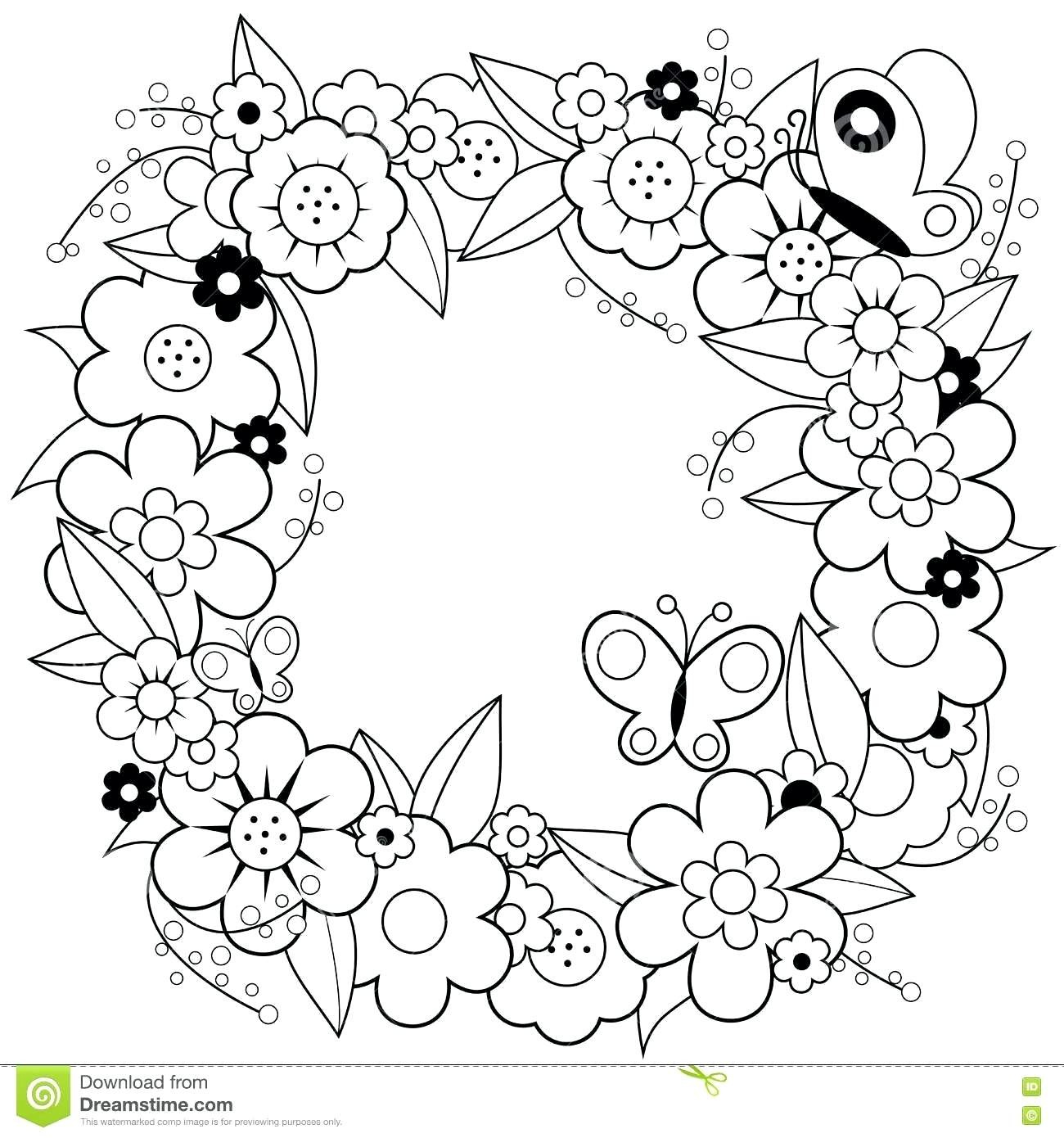 Christmas Wreath Coloring Pages Christmas Wreath Coloring Pages Lezincnyc
