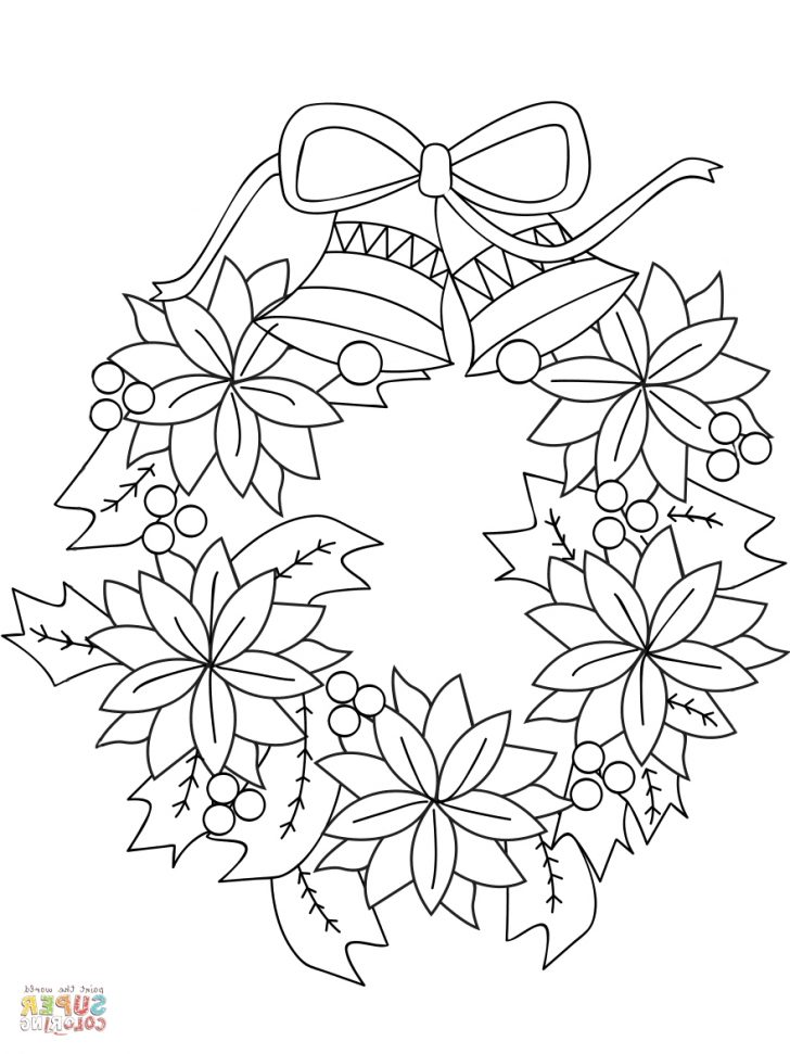 Christmas Wreath Coloring Pages Christmas Wreath Coloring Pages Scbu Christmas Wreath Coloring Page