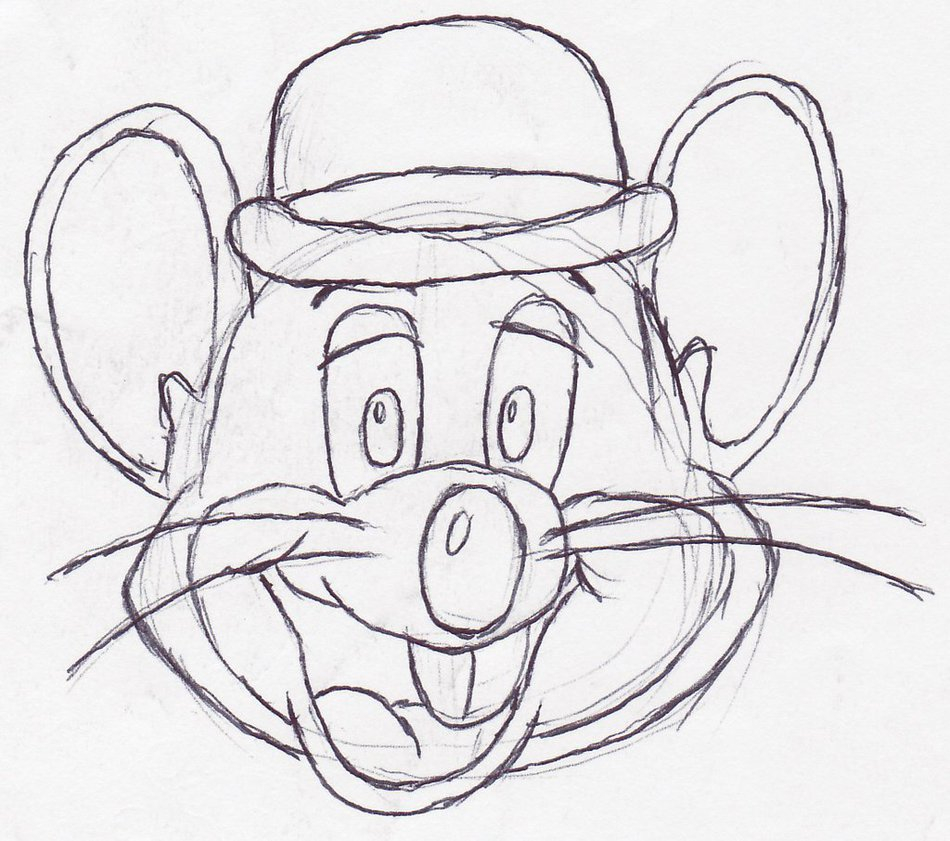 Chuck E Cheese Coloring Page Cheese Drawing At Getdrawings Free For