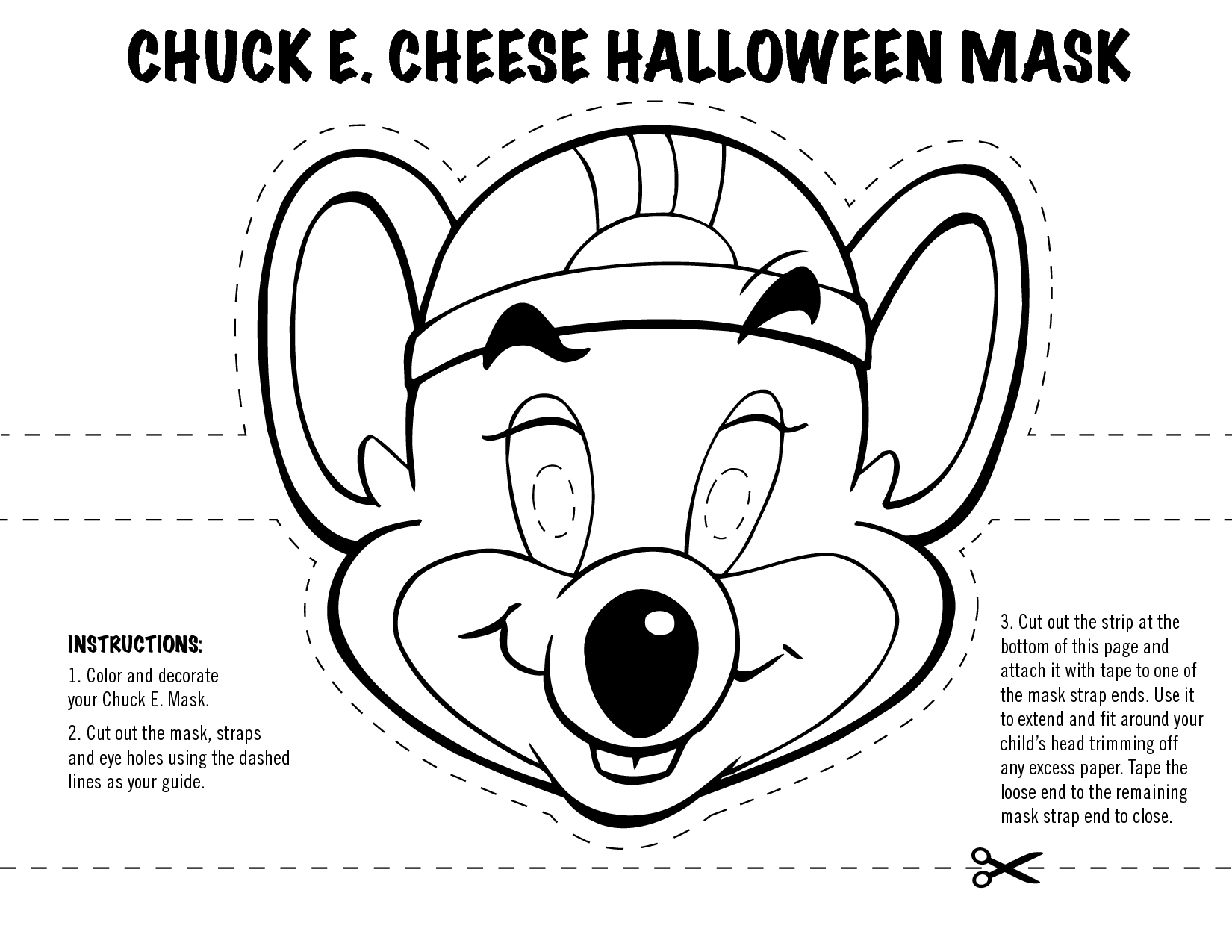 Great Picture of Chuck E Cheese Coloring Page