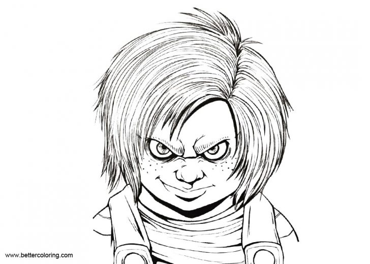 Chucky Coloring Pages Chucky Coloring Pages Inking Drawing Free Printable Coloring Pages