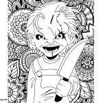 Chucky Coloring Pages Horror Chucky Coloring Pages Free Printable Coloring Pages