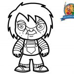 Chucky Coloring Pages How To Draw Chucky For Kids Coloring Pages For Kids Chucky From