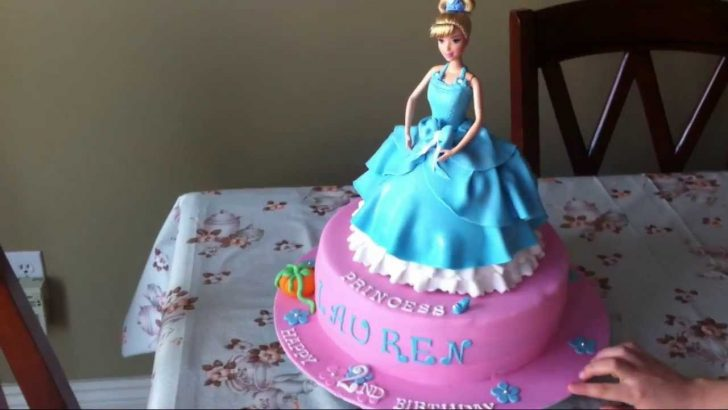 Cinderella Birthday Cakes Cinderella Princess Doll Birthday Cake Youtube