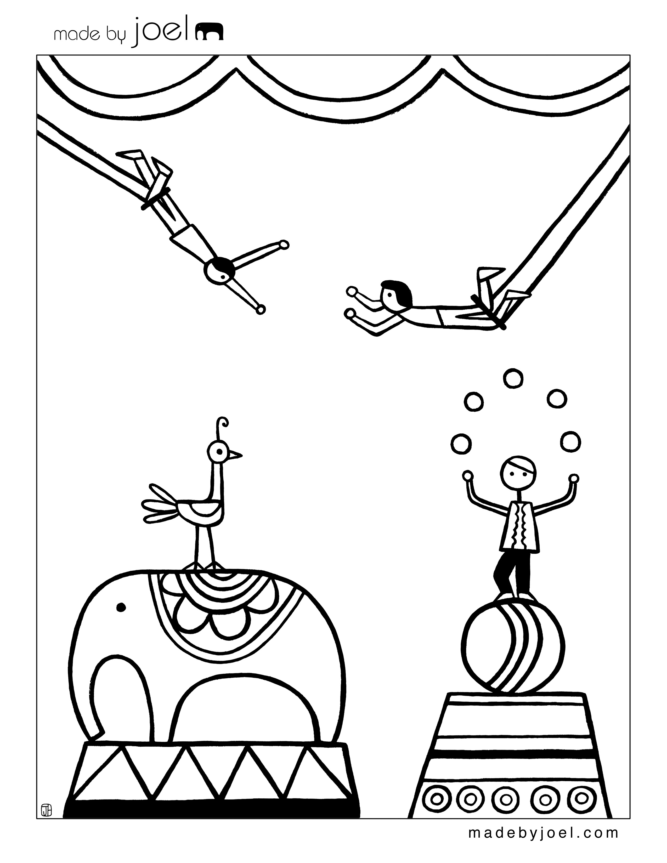 25+ Brilliant Image of Circus Coloring Pages