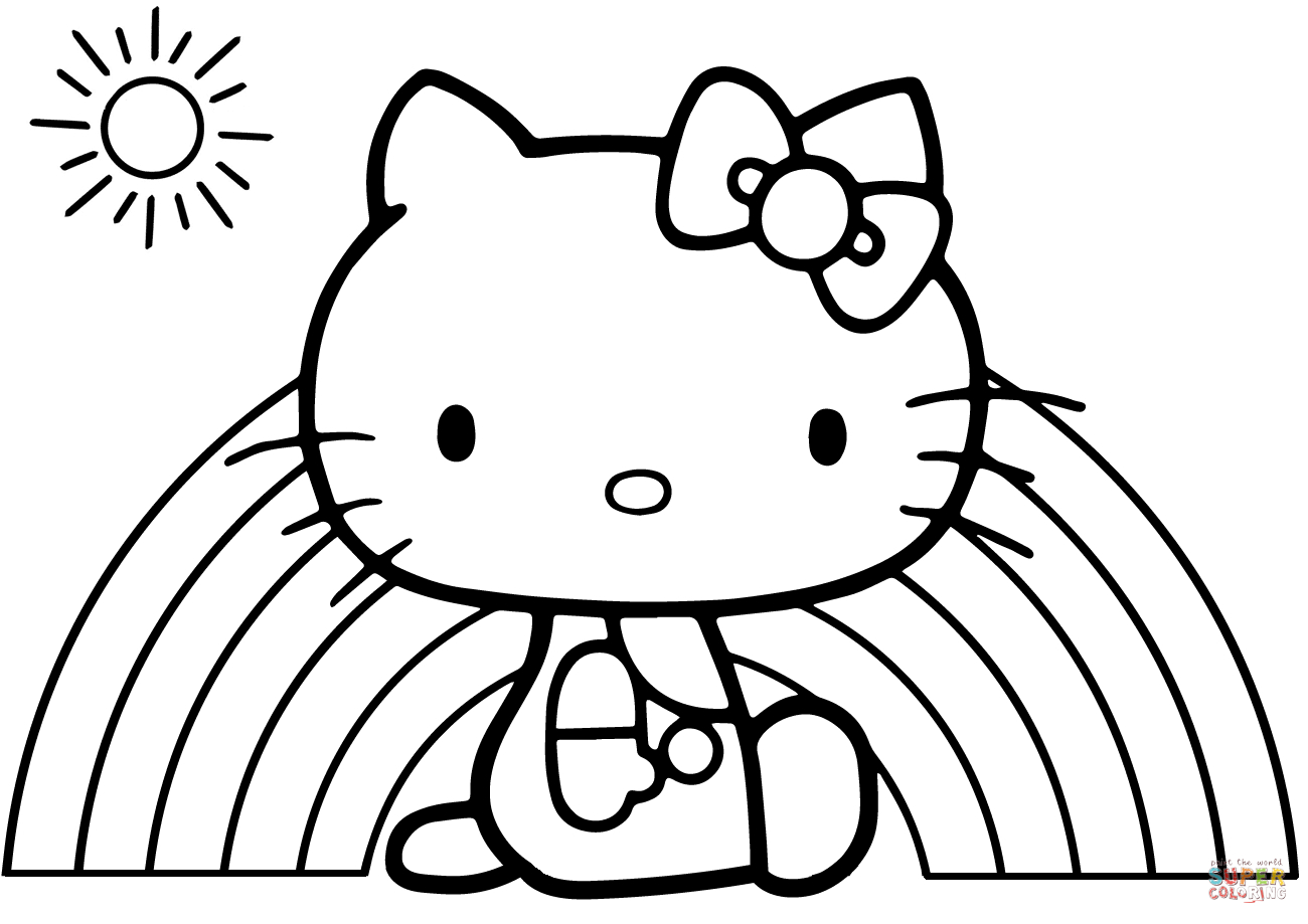 Creative Image of Coloring Pages Hello Kitty