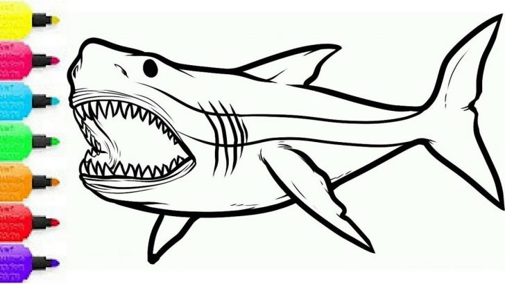 Coloring Pages Sharks Coloring Pages Sharks How To Draw Shark For Kids Colouring Sea