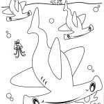 Coloring Pages Sharks Hammerhead Shark Coloring Pages To Print Wuming