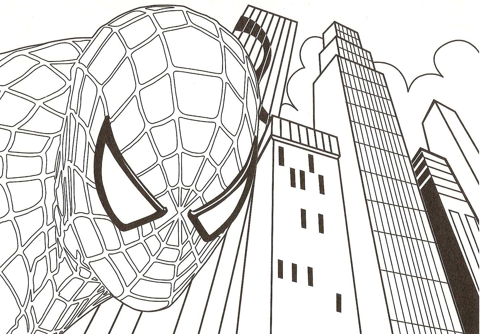 Coloring Pages Spiderman Free Printable Spiderman Coloring Pages For Kids