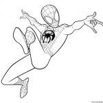 Coloring Pages Spiderman Spider Man Coloring Miles Morales Coloring Pages Printable