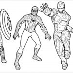 Coloring Pages Spiderman Spiderman Captain America Iron Man Coloring Pages Colouring Pages