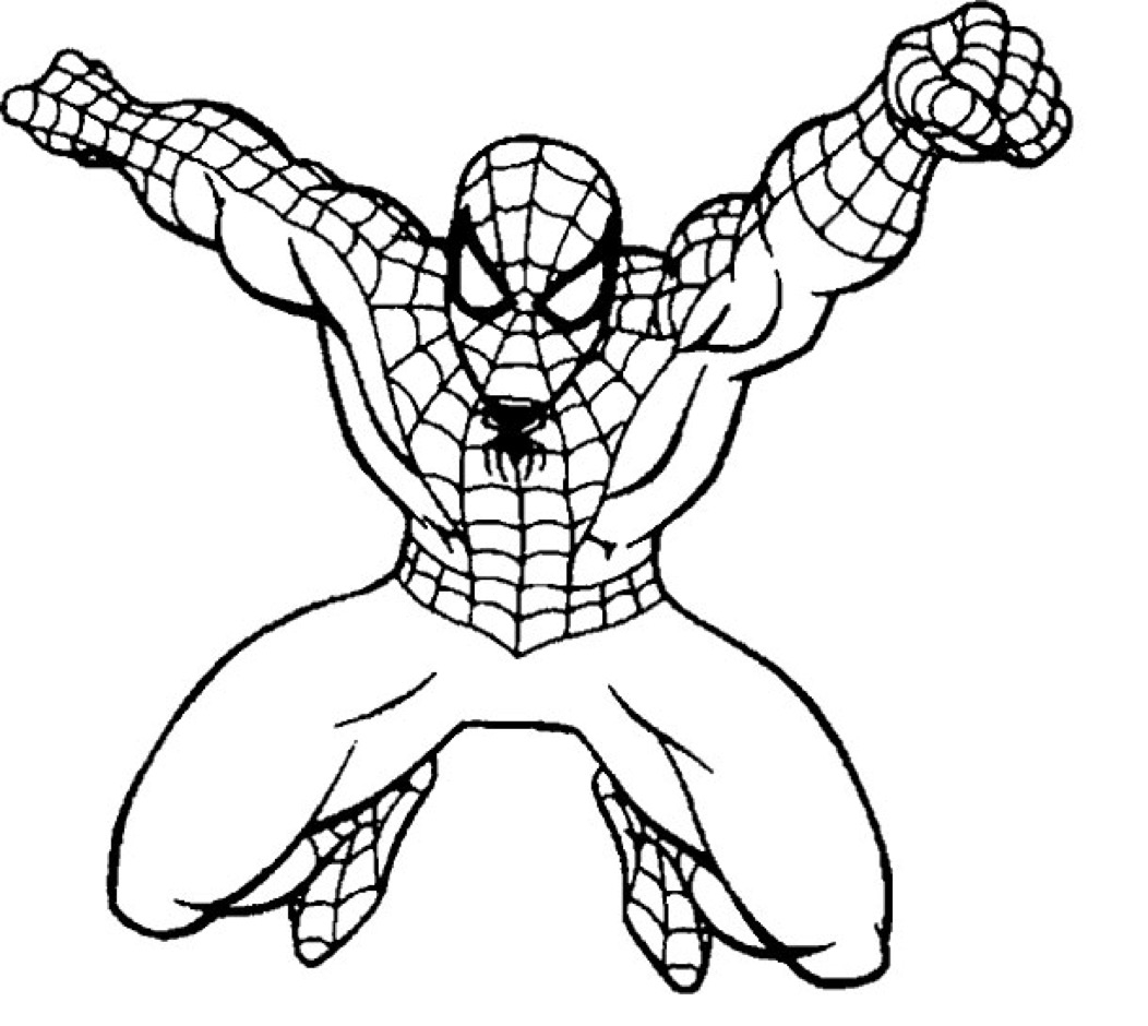 Coloring Pages Spiderman Spiderman Coloring Page Coloring Page Book For Kids