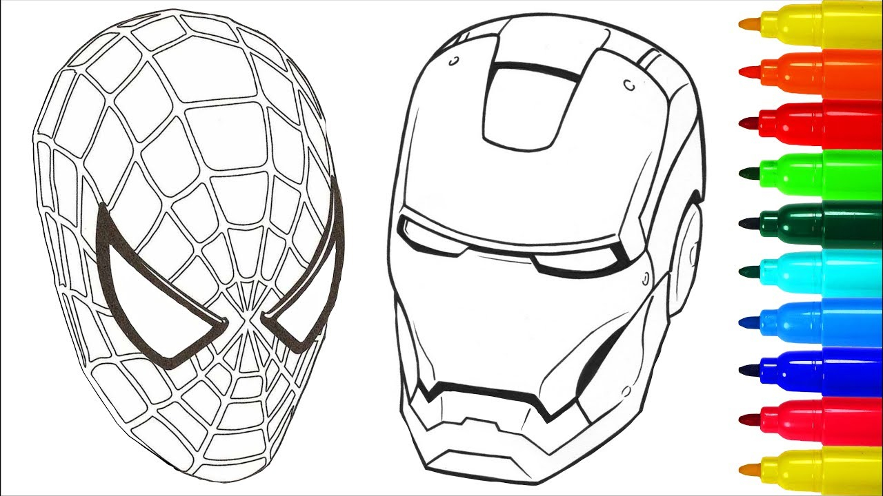 Coloring Pages Spiderman Spiderman Iron Man Coloring Pages Colouring Pages For Kids With