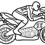 Coloring Pages Spiderman Spiderman Motorcycle Coloring Pages Superheroes Motorbike Bike