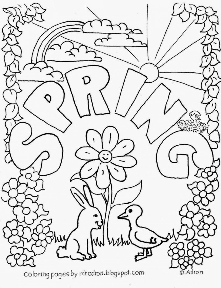 Coloring Pages Spring Coloring Pages Spring Coloring Pages Printable Pin Adron Dozat