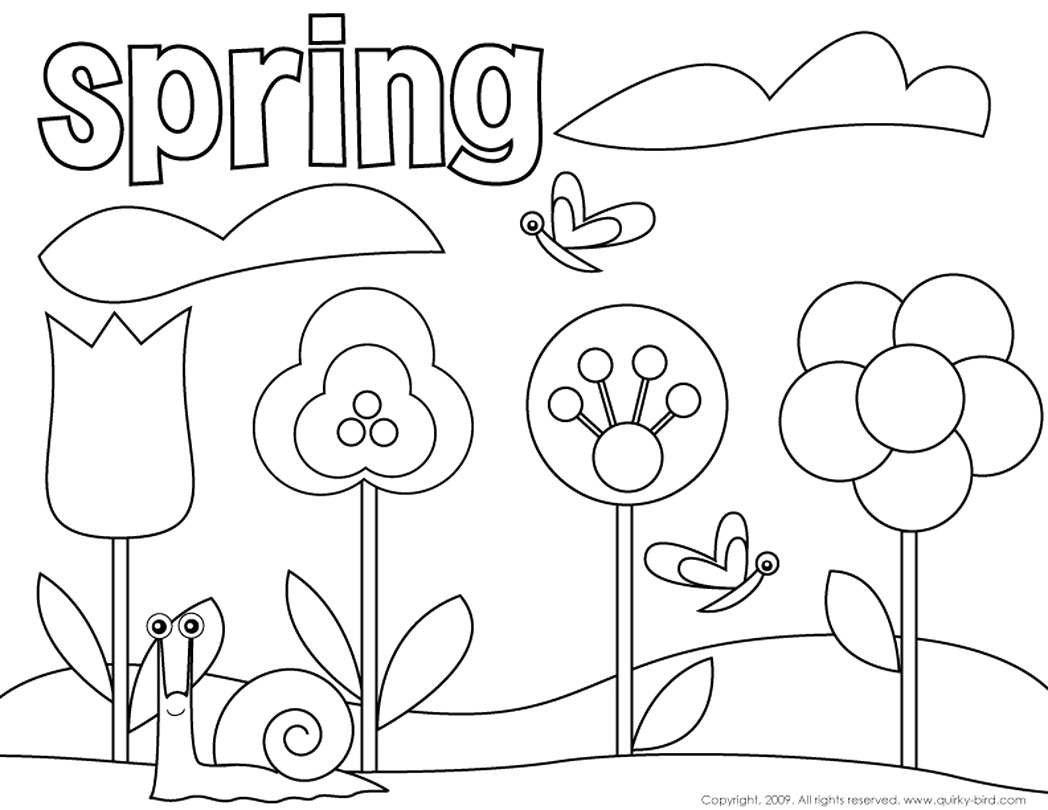 Coloring Pages Spring Printable Spring Coloring Pages Download Free Books And Vietti
