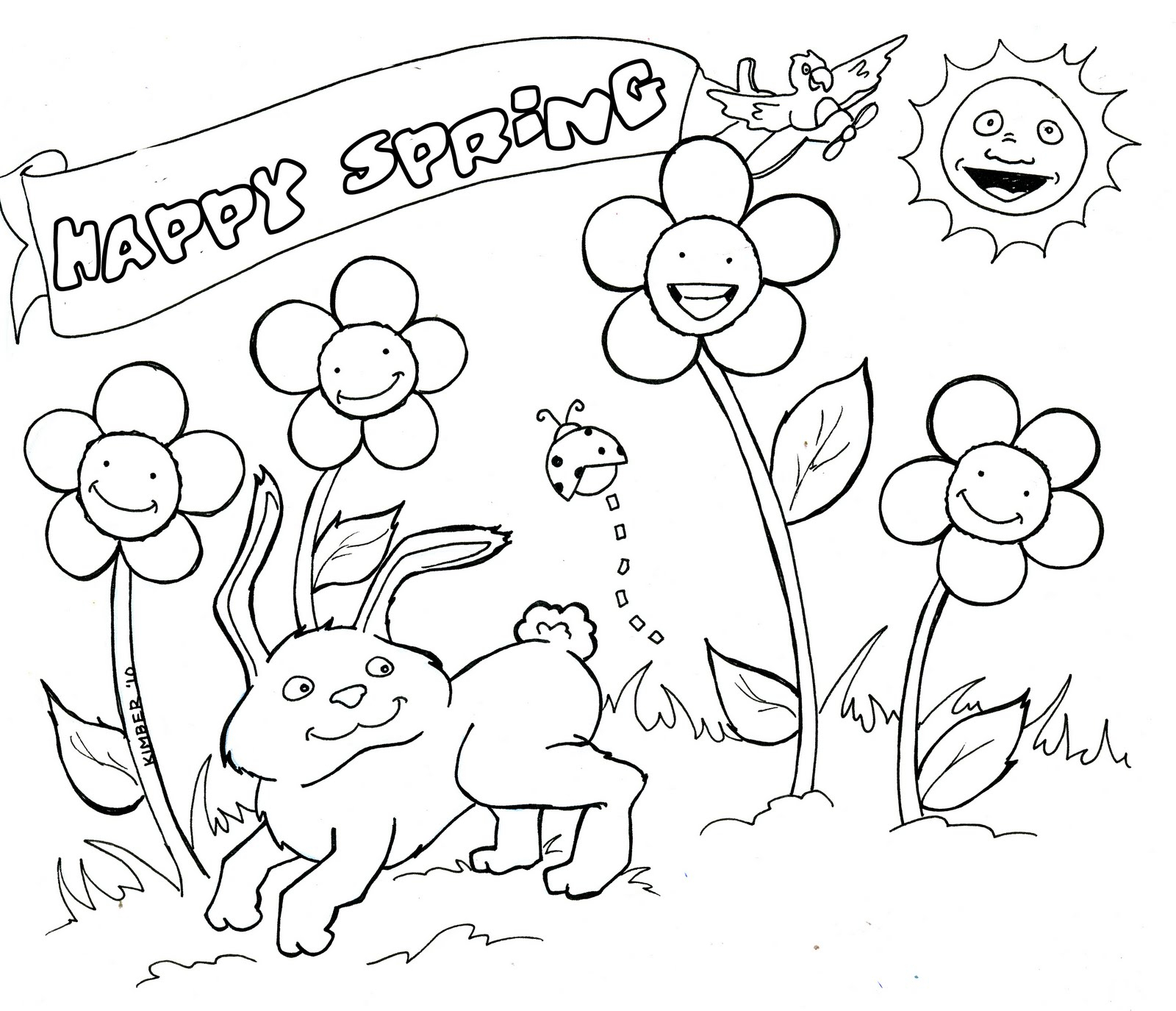 Coloring Pages Spring Spring Coloring Page Coloring Pages Spring Printable Coloring Pages