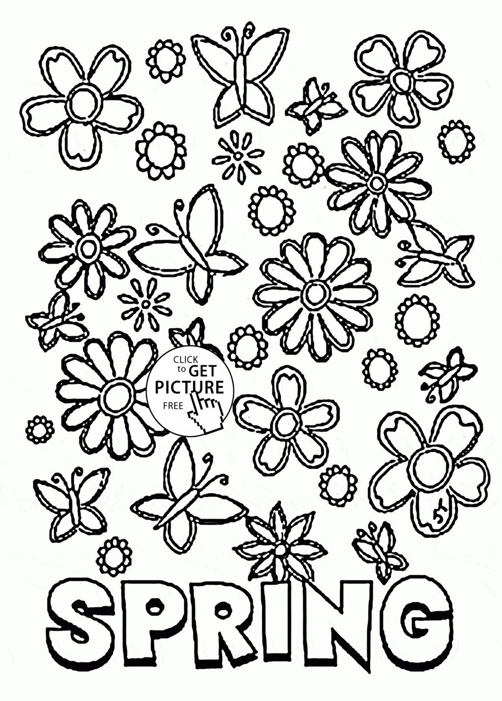 Coloring Pages Spring Springtime Coloring Pages Spring Cpaaffiliate For Adults Free