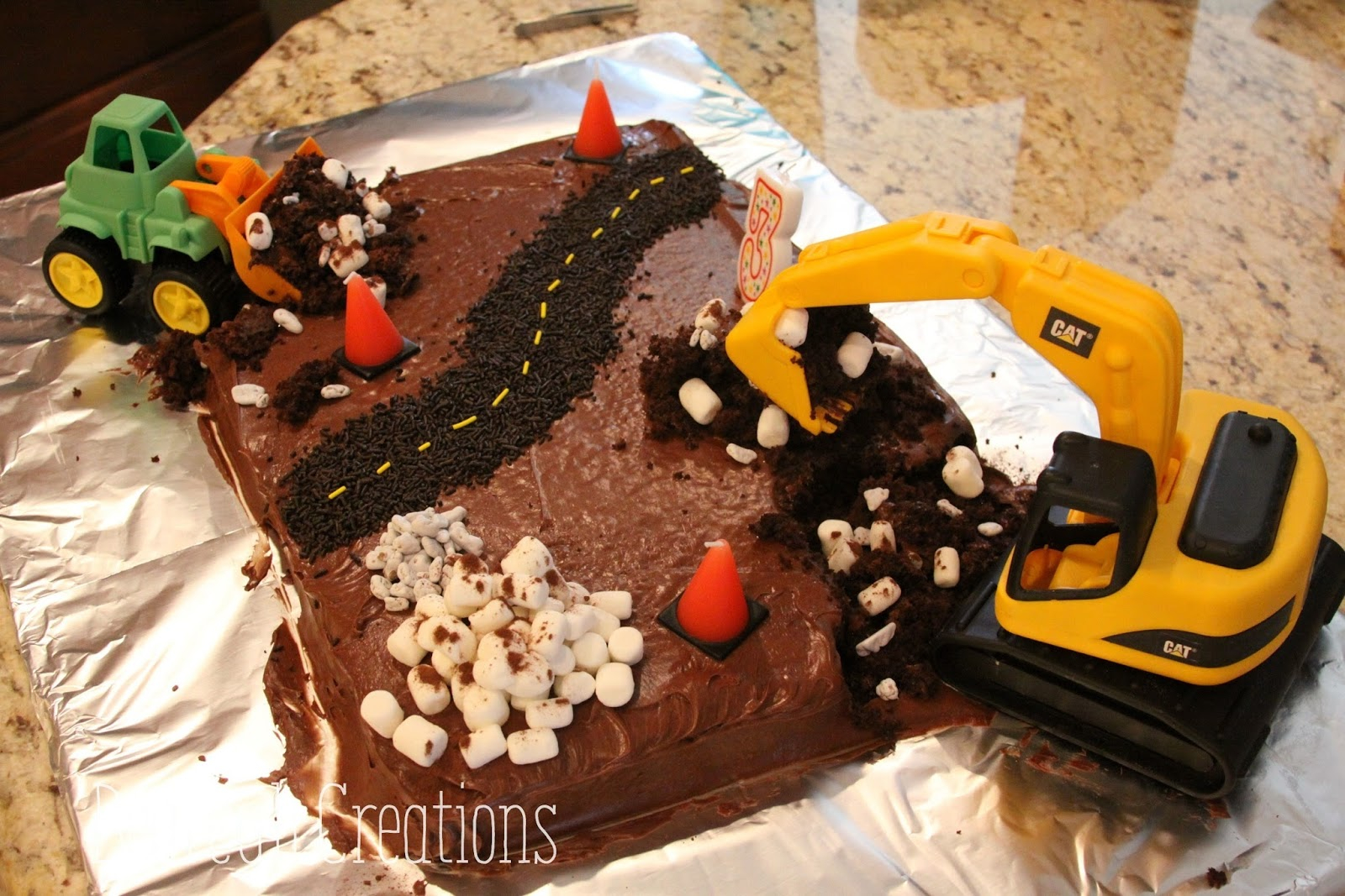 Construction Birthday Cakes Bearcub Creations Construction Birthday Cake