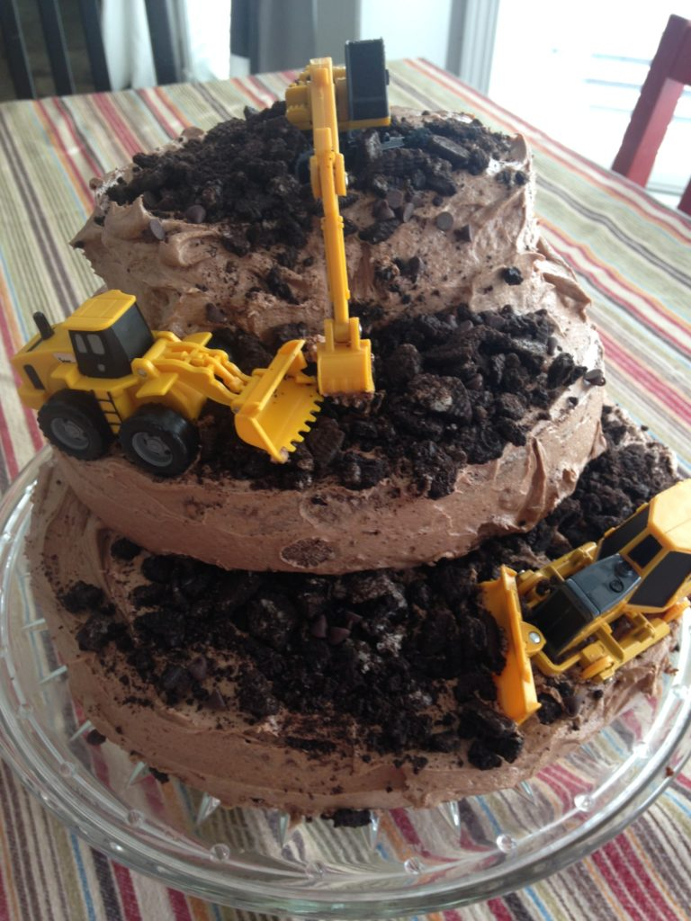 Construction Birthday Cakes Bulldozer Construction Birthday Cake The Gingham Apron