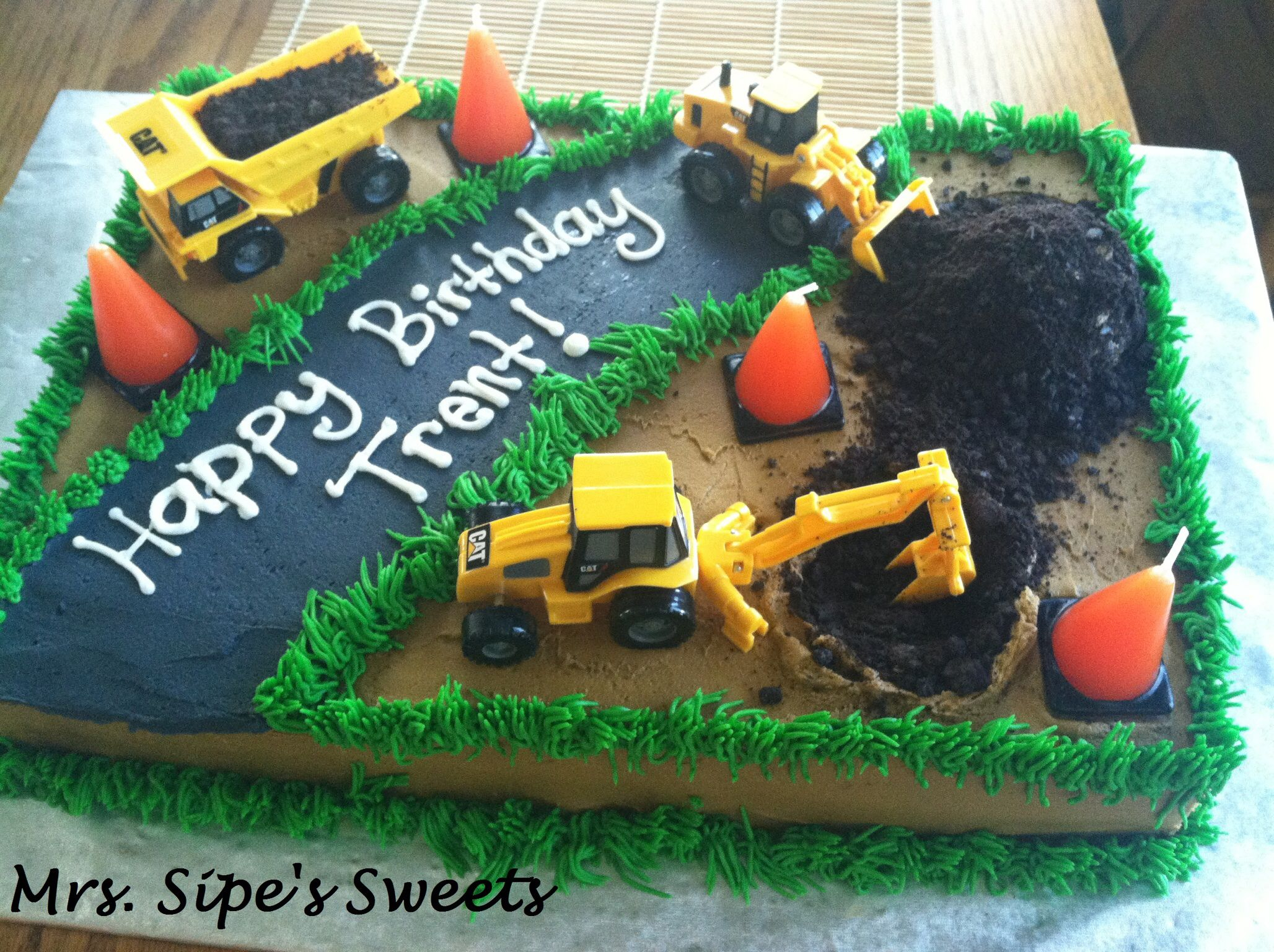 Construction Birthday Cakes Construction Birthday Cake Wyatts 2014 2nd Birthday Cake