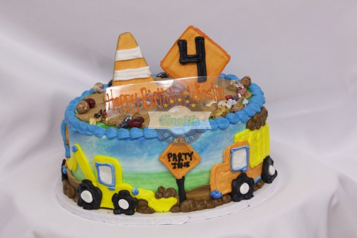 Construction Birthday Cakes Construction Birthday Celebration Cake From Cinottis Bakery