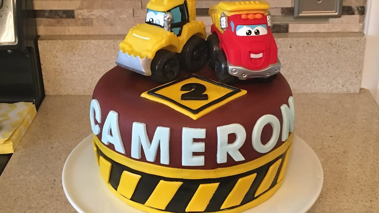 Construction Birthday Cakes Construction Cake Tutorial Birthday Boy Idea Cars Youtube