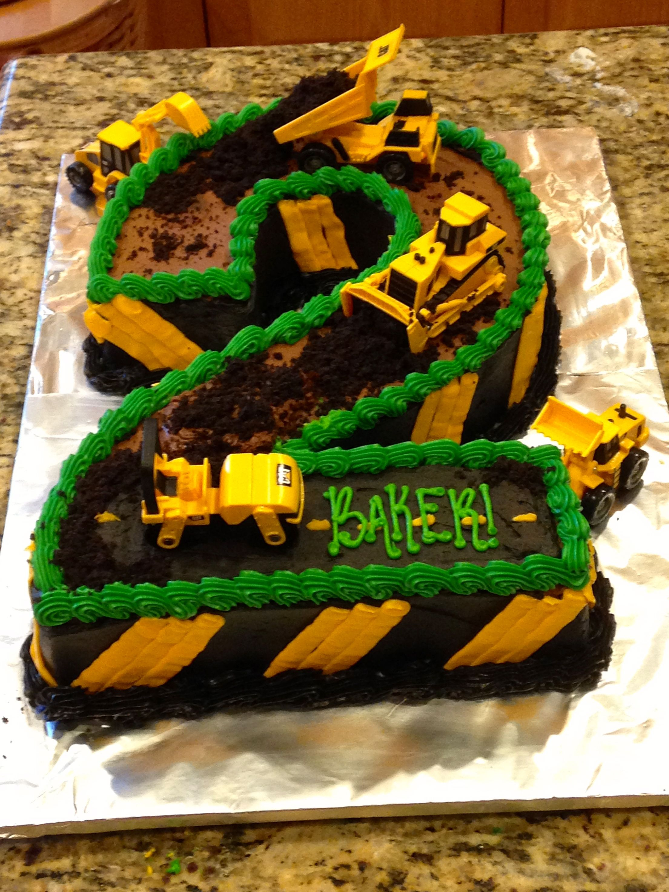 Construction Birthday Cakes Construction Theme 2nd Birthday Cake Construction Cake Dirt Cake 2