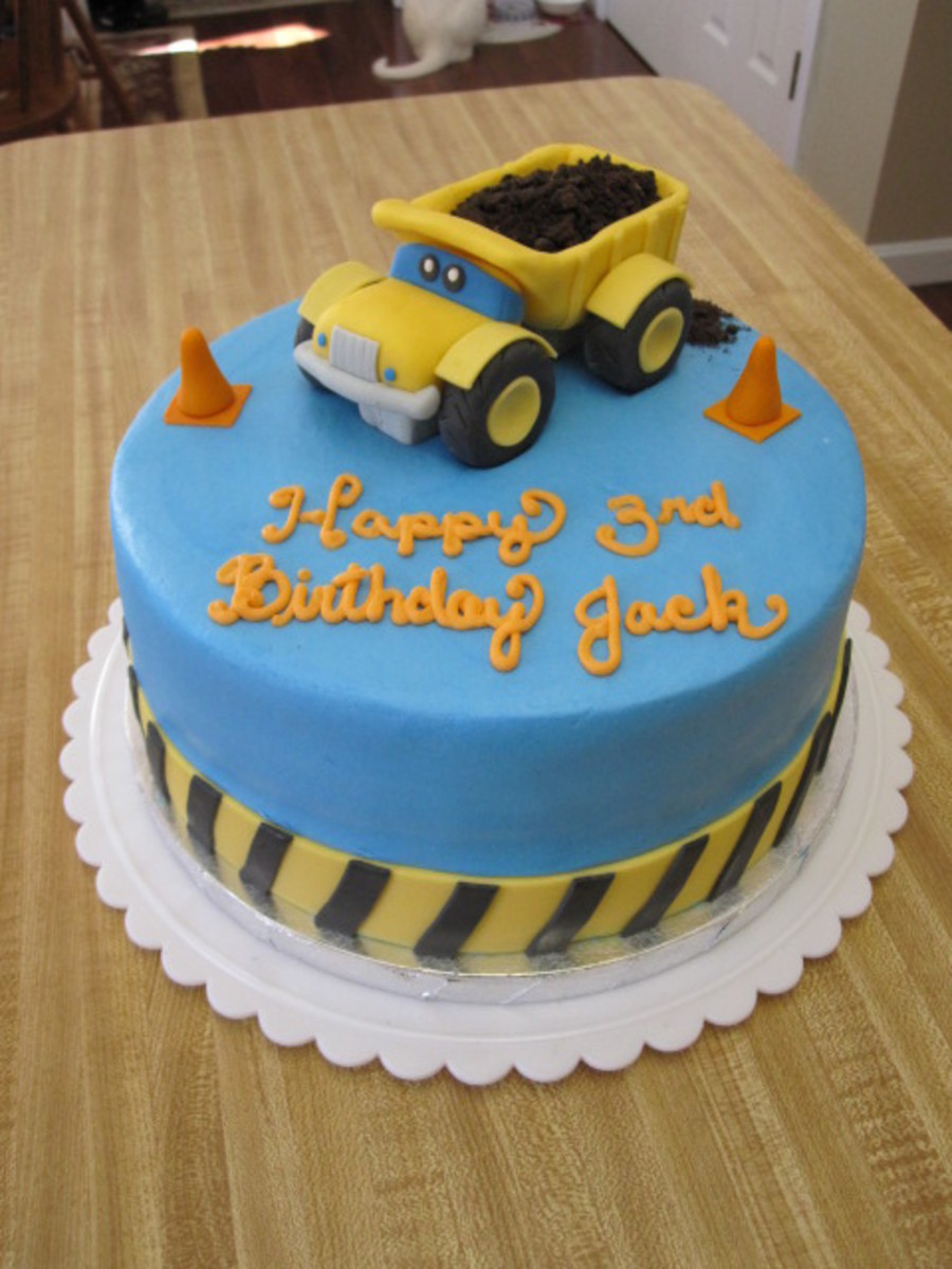 Construction Birthday Cakes Dump Truck Construction Birthday Cake Cakecentral